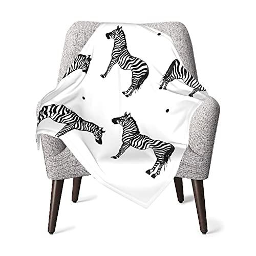 Olverz Manta para bebé de cebra, color blanco y negro, cómoda manta para guardería, manta de felpa gruesa, manta de bebé suave para cochecito de bebé, cuna recién nacidos