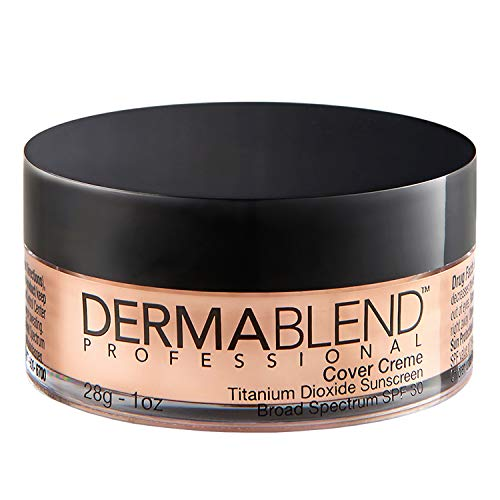 Dermablend Cover Creme High Coverage Foundation with SPF 30, 10C Rose Beige, 1 Oz.