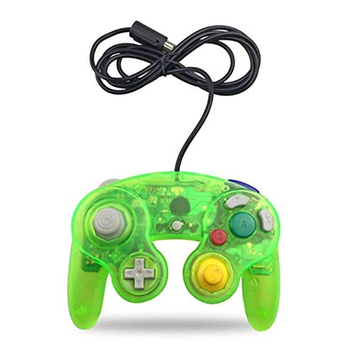 Wired Controller for Nintendo Wii Gamecube GC Single Point Game Vibration Handle (Color : Army Green)