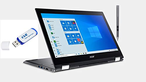 Acer Spin 5 15.6' FHD IPS Touchscreen 2-in-1 Notebook, Intel Quad-Core i5-8250U, 8GB DDR4, 256GB SSD, Fingerprint Reader, Windows 10 Home w/ Active Pen & CUE Flash Drive