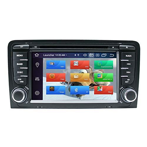 ZLTOOPAI Lettore multimediale per auto per Audi A3 S3 RS3 Android 10 Octa Core 4G RAM 64G ROM 7 pollici IPS Double Din In Dash Autoradio Audio Stereo Navigazione GPS Lettore DVD