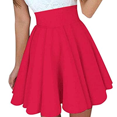 Womens Skirt, Howstar Mini Ladies Summer Skater Caual Dress Skirt