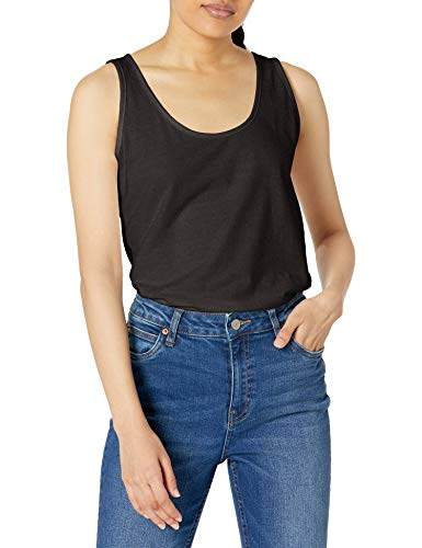 Hanes Women's Scoop Neck Tank Top, Black, Medium