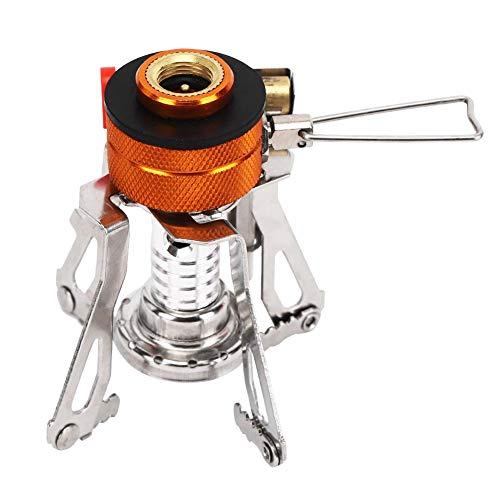 V GEBY Mini Estufa de Gas para Acampar Estufa portátil de Acero Inoxidable 304 a Prueba de Viento Cocina al Aire Libre Mechero electrónico Quemador para Picnic 🔥