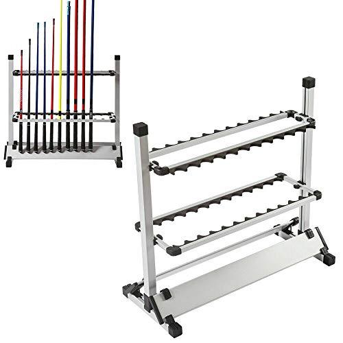DIFU Angelruten Ständer Tragbare Angelrutenhalter Angeln Rutenständer für 24 Angelruten aus Hochwertigem Aluminium