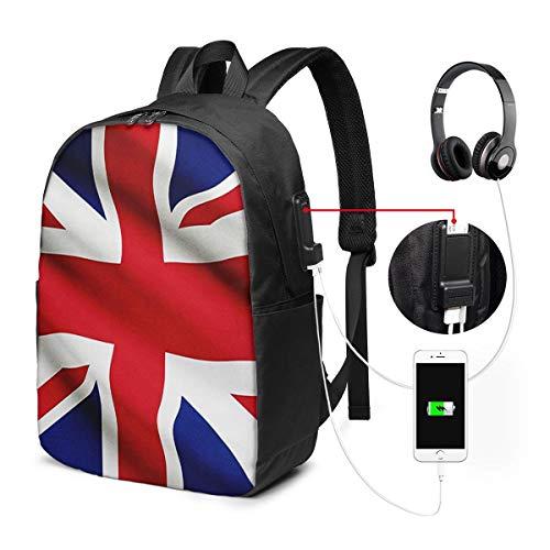 ラップトップバックパック USBポート スクールリュックサック 15.6インチ ラップトップ に適合 ユニオンジャック旗8