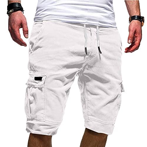 Men's Sport Pure Color Bandage Casual Loose Sweatpants Drawstring Shorts Pantsale Drawstring Shorts Long Cargo Shorts Walking Shorts Capri Shorts Slim fit Shorts Skinny Shorts White