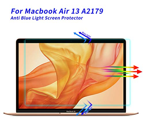 Screen Protector for MacBook Air 13 Inch A2179 A1932, Anti Blue Light Glare Screen Protector Filter for 2018-2020 MacBook Air 13 Inch A2179 A1932 Laptop Eye Protection Anti Glare Screen Filter Cover