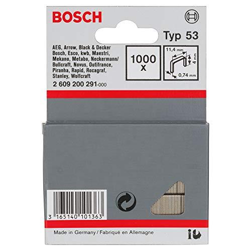 Bosch 2609200291-2609200291 - filo sottile di tipo clamp 53-11,4 x 0,74 x 4 mm (pacchetto di 1000)