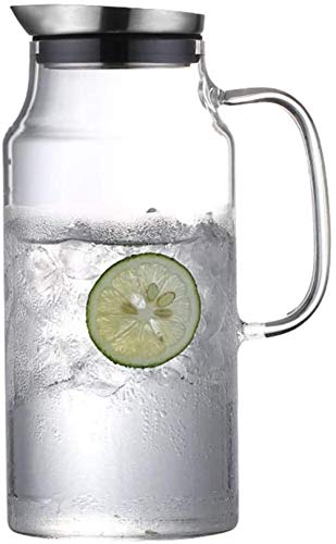 GAOYINMEI Tetera Tetera de 1,8 l/litro Jarra con la Tapa de Cristal Jug - 100% BPA Vino Divisor té Helado Hervidor de Limonada/Bebida fría/Hielo Dispensador de Agua (Size : 2000ML)