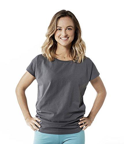 Lotuscrafts Camiseta de Yoga para Mujer algodón biológico; Comercio Justo y fabricación ecológica; Camiseta Deportiva de Yoga para Mujer; Camiseta de Yoga