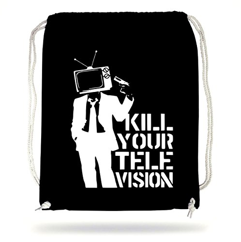 Certified Freak Kill Your TV Gymsack Black