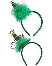 FRCOLOR 2 Piezas Diadema de Navidad Árbol de Navidad Diadema de Vacaciones Sombrero de Fiesta de Navidad de Halloween Accesorio de Disfraz de Cosplay