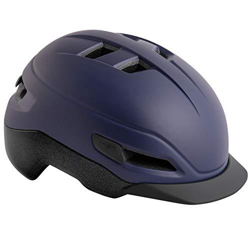 MET Grancorso Urban Fahrrad Helm City Retro Style Kopf Schutz Halbschale Cruiser Bike Radhelm Schild, 570010, Farbe Dunkelblau, Größe M