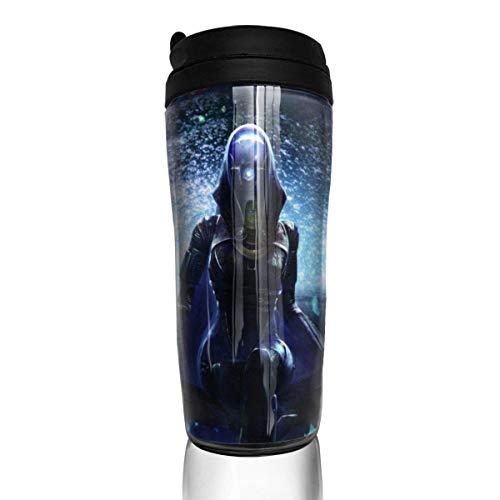 IUBBKI Anime Mass Effect Kaffeetassen Tumbler Travel Warmer Wiederholbare Anwendung Kaffeetasse, mit Deckel auf Flip Anti-Überlauf Funktion Kaffeetassen, für Autos, Büro, Zuhause (12 Unzen)