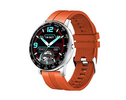 InnJoo Reloj Inteligente Hombre Smartwatch Inspire Plata/ Naranja