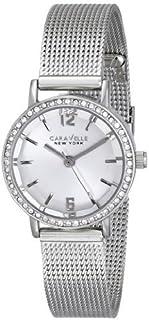 ブローバ Women's 43L170 Caravelle New York Crystal-Accented ステンレススチール Watch with Mesh Bracelet [並行輸入品]