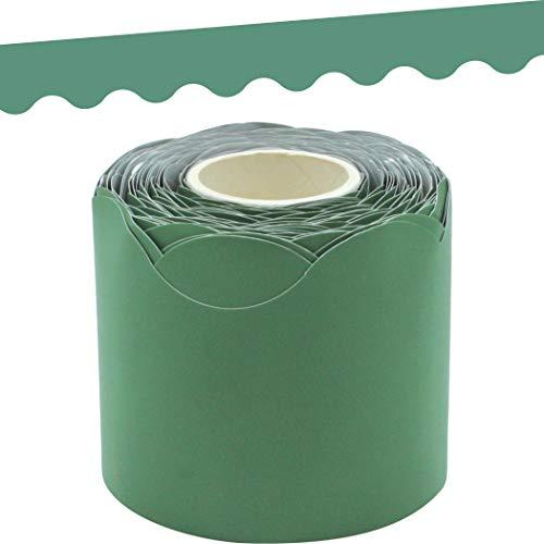 Eucalyptus Green Scalloped Rolled Border Trim