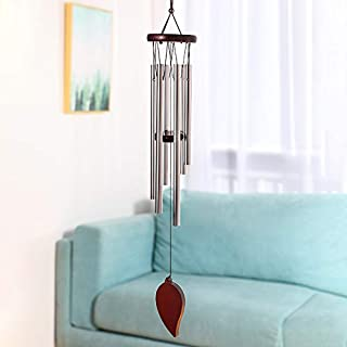 Sympathy Wind Chimes Outdoor, Amazing Grace Wind Chimes Garden Patio Decor, Memorial Wind Chime with 6 Metal Tubes Tuned Soothing Relaxing Melody, Best Gift for Friends Children Lovers (23 inch-A)