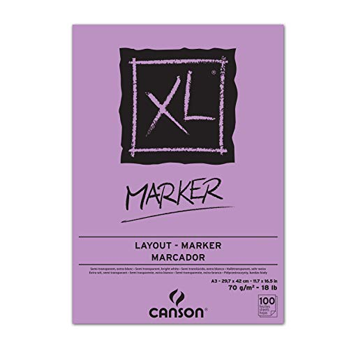 CANSON XL® Marker, Markerblock, DIN A3, 100 Blatt, 70 g/m²