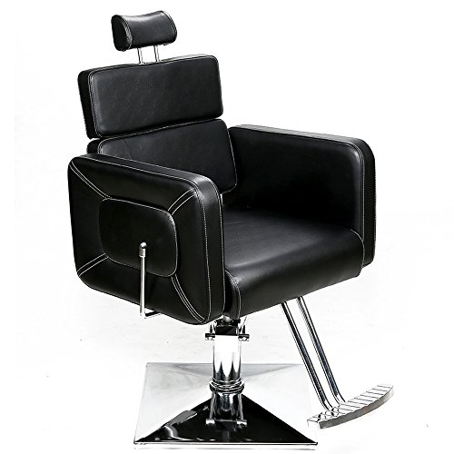 BarberPub Friseurstuhl Friseursessel Bedienungsstuhl Friseureinrichtung Hydraulisch Stuhl 2065BK