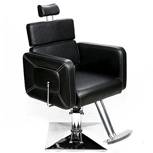 Barberpub Poltrona da parrucchiere Poltrona da lavoro Poltrona da lavoro Attrezzature da parrucchiere Sedia idraulica 2065BK