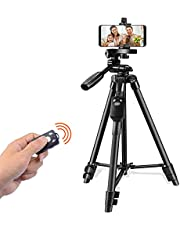 SPEEDFOX 三脚 スマホ 三脚 ビデオカメラ さんきゃく リモコン付き 一眼レフカメラ ミニ三脚 3WAY雲台 4段階伸縮 360回転 収納袋付きiPhone/Android スマホ等対応