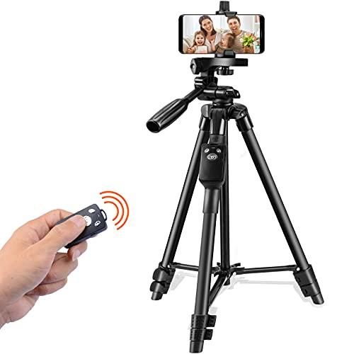 SPEEDFOX 三脚 スマホ 三脚 ビデオカメラ さんきゃく リモコン付き 一眼レフカメラ ミニ三脚 3WAY雲台 4段階伸縮 360回転 収納袋付きiPhone Android スマホ等対応