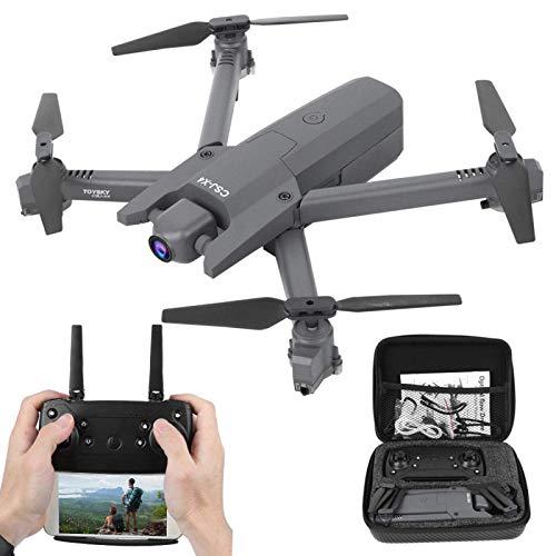 WANGYOUCAO Cámara 4K Drone Plegable Drone Gran Angular con WiFi FPV RC Quadcopter Adecuado para Principiantes (Color : Black 4K)