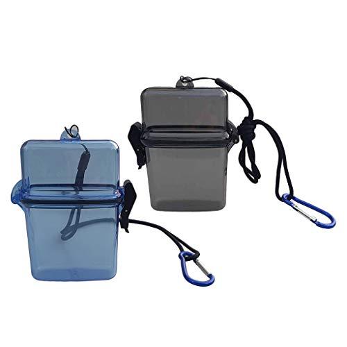 freneci Caja de Almacenamiento de Buceo Gris + Azul de 2 Lotes para Canotaje, Kayak, Vela, Surf
