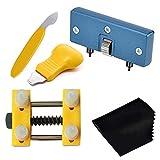 JJDD Kit de réparation de Montre 5 pièces, Ouverture de la Coque arrière de la Montre réglable, siège Simple