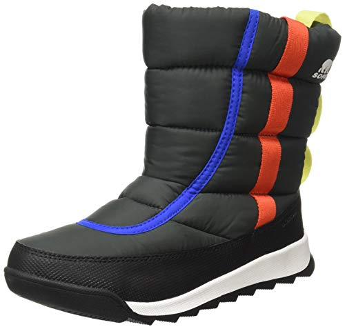 Sorel Youth Whitney II Puffy Mid Boot for Rain and Snow - Waterproof - Coal - Size 6