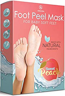 Foot Peel Mask - 2 Pack - For Cracked Heels, Dead Skin & Calluses - Make Your Feet Baby Soft- Removes & Repairs Rough Heels, Dry Toe Skin - Exfoliating Peeling Natural Treatment - Cruelty Free & Vegan