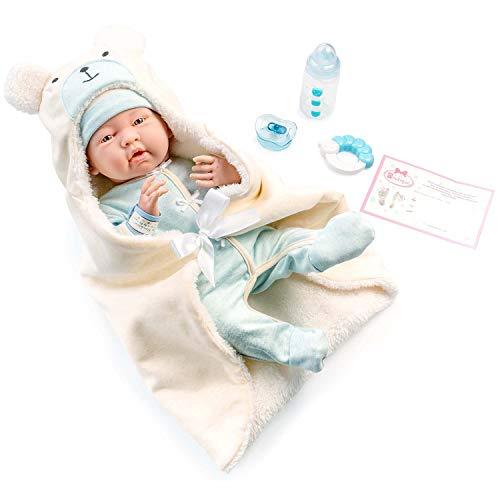 JC TOYS -La Newborn Babypuppe, blau (18790)