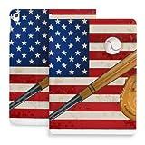 Coque pour Ipad 10.2 Coque Drapeau Américain Gant De Batte De Baseball Compatible avec Ipad 8ème...