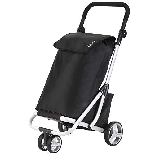 Carro de la compra nevera para carro de la compra Trolley Compras carro bolsa de la compra en lila con 40L)