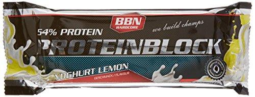BBN Hardcore Protein Block Riegel, Yoghurt Lemon, 15 Stück