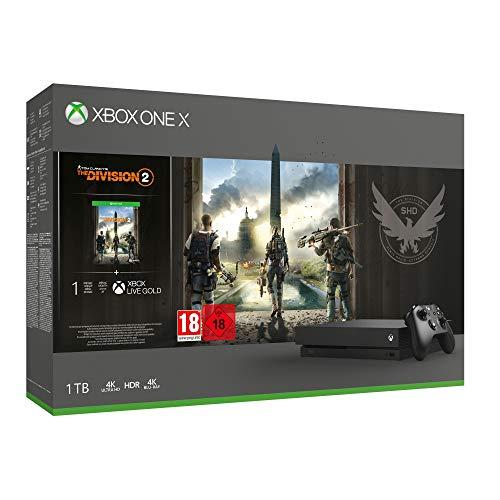 Xbox One X 1TB, schwarz - The Division 2 Bundle