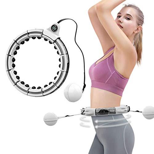 CYSJX 16 Segmente Intelligent Hula Hoop Auto-Spinning Hoop, Nicht Fällt Einstellbar Fitnessreifen Mit Massagenoppe Für Kinder Erwachsene Anfängermit Gymnastikreifen Zum Abnehmen, Fitness
