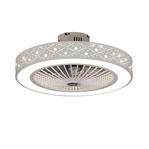 Ventilador de techo de 22 pulgadas, con iluminación y mando a distancia, lámpara LED de techo, ventilador de araña, para dormitorio o salón, lámpara de 64 W (lámpara de ventilador de perlas de piña