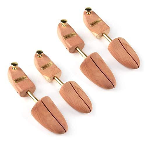 FootFitter Shoe Trees for Men, Best Full Heel Block Split Toe Aromatic Cedar Boot Tree, USA Grown Wood - PH31, 2 PACK!