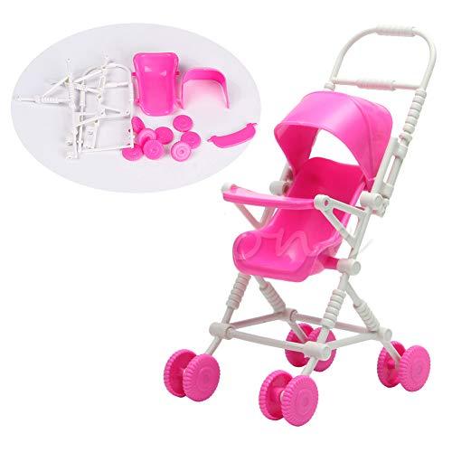 RG-FA Neu Zusammengebautes Rosa Kinderwagenwagen-Kindergartenpuppenspielzeug