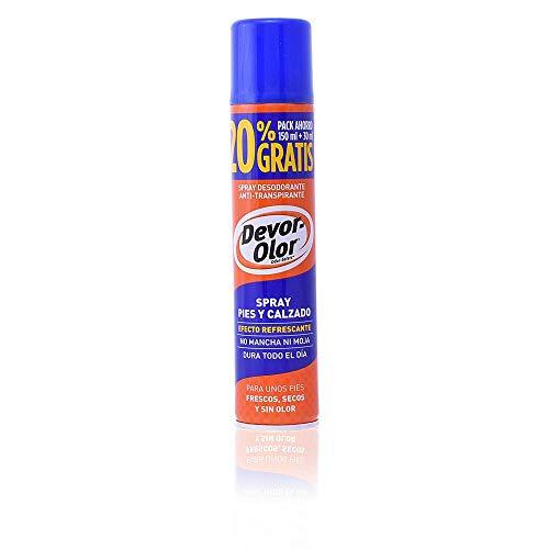 DEVOROLOR desodorante antitranspirante para pies y calzado spray 150 ml