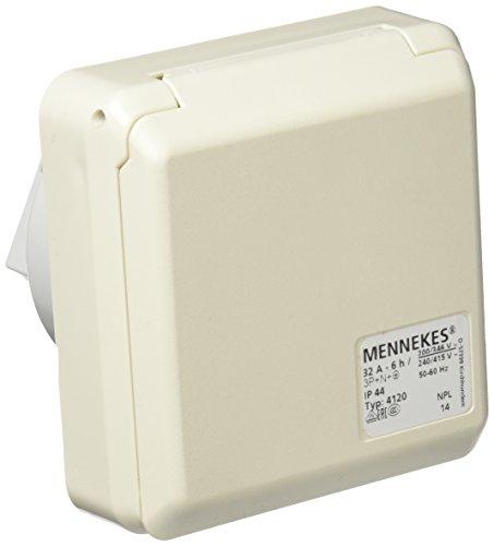 Mennekes (Unternehmen) 101100354Basen in System cepex-th, Steckdosen CEE, 400V, 50–60Hz, 32A, 5-polig, IP 44, 5Paket