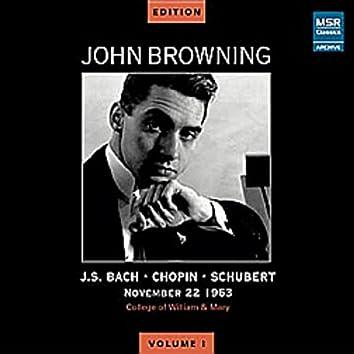 John Browning Edition, Vol. I - JFK Recital, November 22, 1963