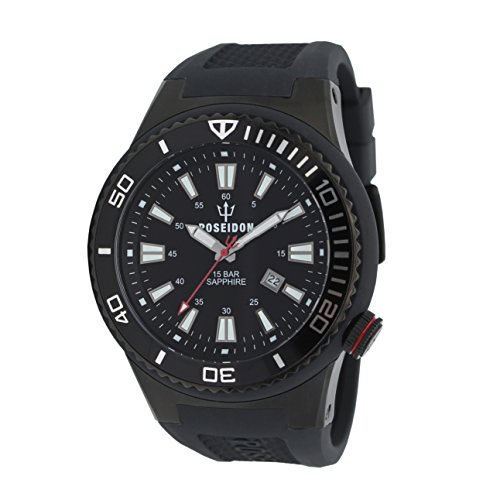 POSEIDON by KIENZLE XL Uhr Analog mit Silikon Armband UP00611