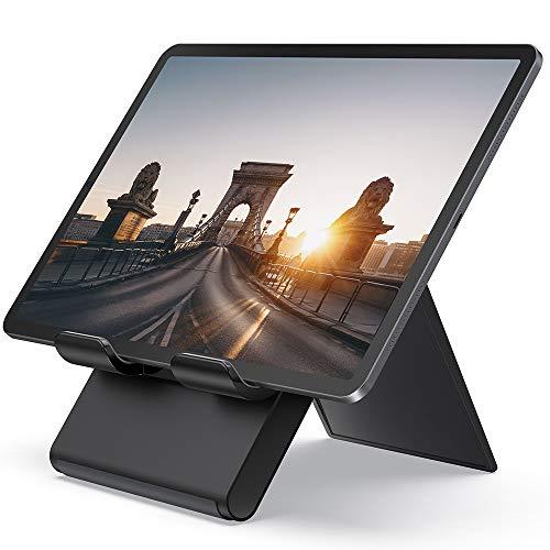 Lamicall Supporto Tablet, Supporto Regolabile - Universale Supporto Stand Dock per 2020 iPad PRO 9.7, 10.2, 10.5, 12.9, iPad Air 2 3 4, iPad Mini 2 3 4, Samsung Tab, iPhone, Altri Tablets - Nero