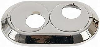 Collar doble cubierta de los tubos del radiador cromada pvc 15 mm Doble subió giratorio