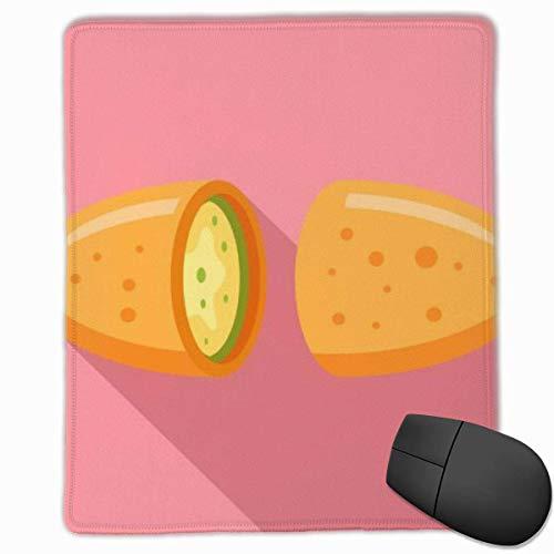 Mauspad Mexikanisches Lebensmittel-Symbol Flaches, rutschfestes Gummibasis-Nähkanten-Mauspad für Spiele oder Büroarbeiten