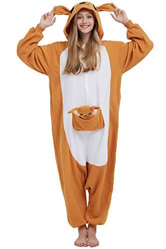 Pijama Kigurumi Animados Cosplay Canguro Animal para Adulto Unisex Hombre Mujer